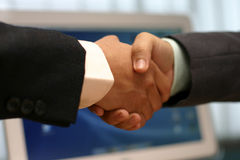 Hand shake at office Royalty Free Stock Photography