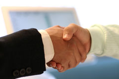Hand shake at the office Royalty Free Stock Images