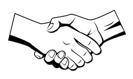 Hand shake. Set illustrator desain .eps 10 Royalty Free Stock Images