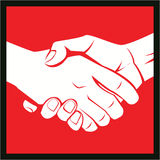 Hand shake. Set illustrator desain .eps 10 Stock Photos