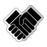 Hand shake silhouette icon Royalty Free Stock Photo