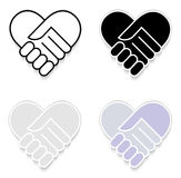Hand shake sticker Stock Images