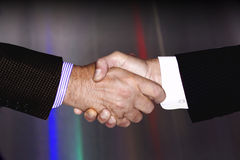 HANDSHAKE TECHNOLOGY BUSINESS ENVIRONMENT INDUSTRY Royalty Free Stock Images