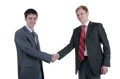 Hand shake of two businessmen Royalty Free Stock Photography