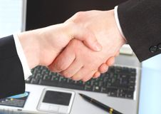 Hand shake of two people. Royalty Free Stock Photography