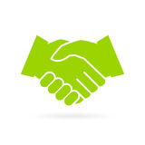 Hand shake vector icon Stock Photos