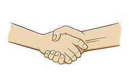 Hand Shake Vector Illustration. Vector illustration of two hand doing handshake Stock Image