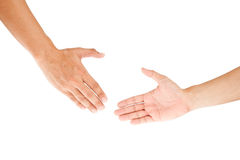 Hand shake on white Stock Photography