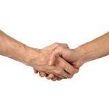 Hand shake on white Stock Photos