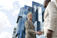 Hand Shake Wide royalty free stock image