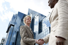 Hand Shake Wide Royalty Free Stock Photography