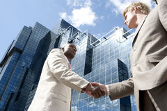 Hand Shake Wide Royalty Free Stock Photo