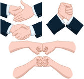 Hand Shakes Pack Royalty Free Stock Photos