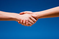 Hand shaking Royalty Free Stock Photo