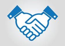 Hand shaking business. Man like Stock Photos