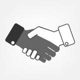 Hand shaking. Icon isoleted on white background Royalty Free Stock Image