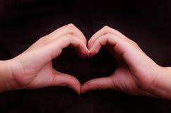 Hand shape heart Stock Photography