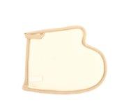 Hand shaped loofa sponge isolated Royalty Free Stock Image