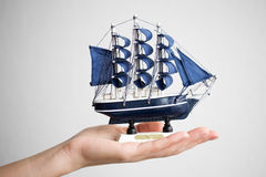 Hand, ship Royalty Free Stock Image