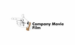 Hand shoot movie logo. A logo that depicts a shooting with a movie reel, good for a film or movie company Stock Photography