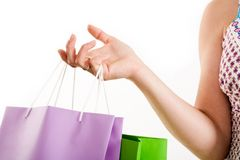 Hand of shopper Stock Photo