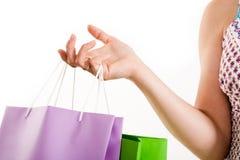 Hand of shopper Stock Photo