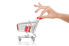 Hand shopping activity Royalty Free Stock Photo