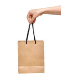 Hand with shopping bag Royalty Free Stock Photos