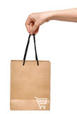 Hand with shopping bag Royalty Free Stock Image