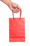 Hand with shopping bag Royalty Free Stock Photo