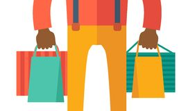 Hand with shopping bag Stock Photo