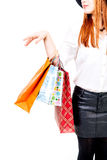 Hand with shopping bags Royalty Free Stock Images