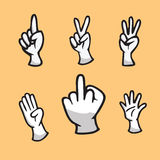 Hand show finger count icon Royalty Free Stock Image