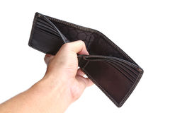 Hand show a new wallet Royalty Free Stock Photography