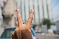 Hand show v. Sign language Royalty Free Stock Photos