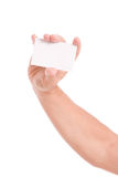 Hand showing business card Stock Photography