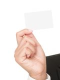 Hand showing business card Stock Images