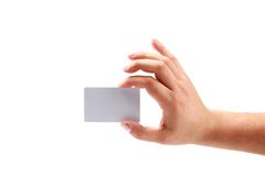 Hand showing a card Royalty Free Stock Photo