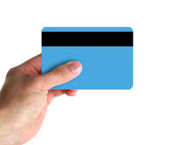 Hand Showing Credit Card. Could be business card/credit card royalty free stock photo