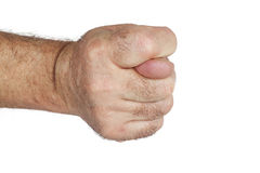 Hand is showing a fig sign Royalty Free Stock Photos