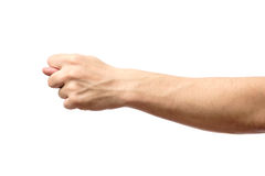 Hand showing a fig sign isolated. On white background Royalty Free Stock Photography