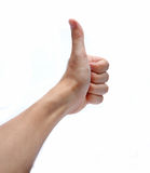 Hand showing goodluck sign Royalty Free Stock Image