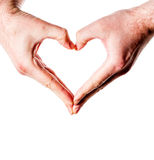 Hand Showing Heart Gesture Royalty Free Stock Photos