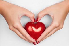 Hand showing heart Royalty Free Stock Images