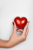 Hand showing heart Royalty Free Stock Image