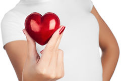 Hand showing heart Stock Image