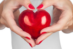 Hand showing heart Stock Photo