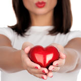 Hand showing heart royalty free stock photos