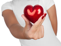 Hand showing heart Stock Photos