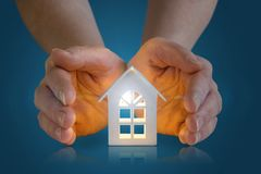 Hand showing house. royalty free stock photos